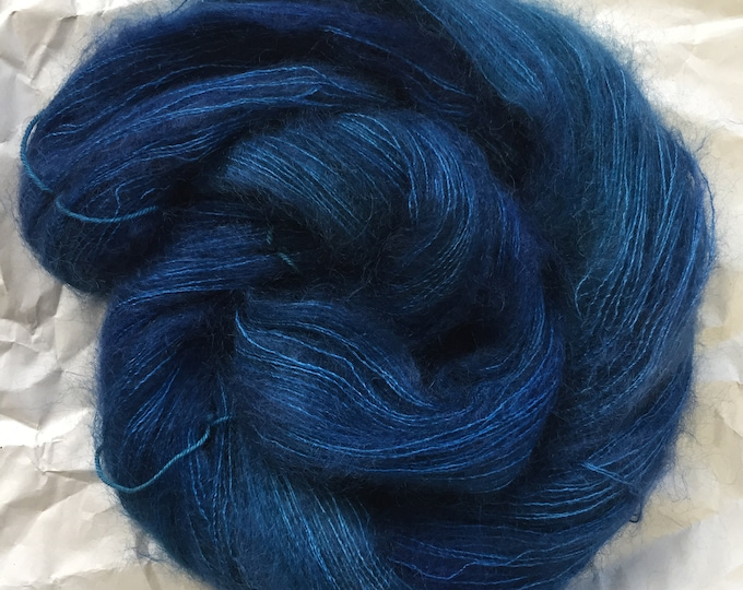 WOLKE mohair/silk laceweight - vintage blue