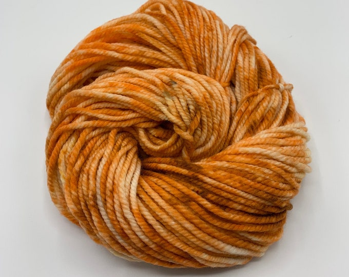 merino chunky - OOAK orange and copper speckle
