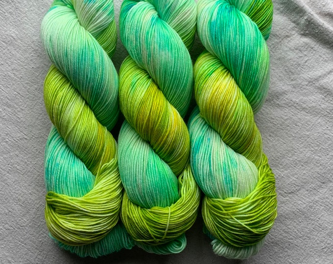 watercolors - limited edition - bright green/turquoise OOAK
