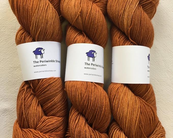 watercolors sock yarn - copper pipe