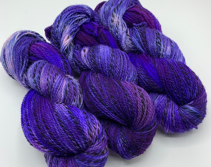 highland wool fingering - allll the purple