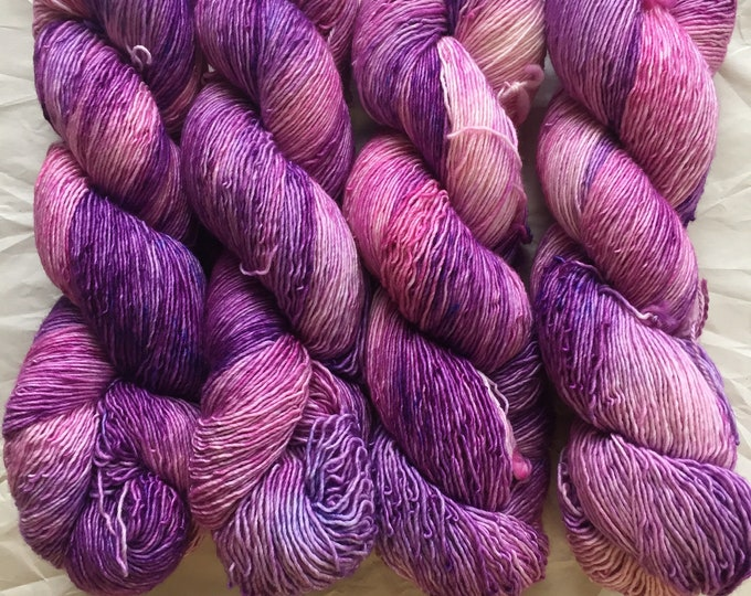 merino single - OOAK - pink/purple/periwinkle speckle