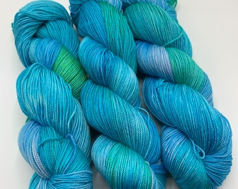 Limited edition - silky sock - turquoise/green