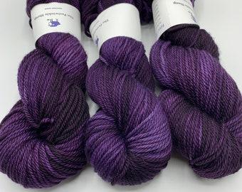 SALE merino aran - new day, new purple