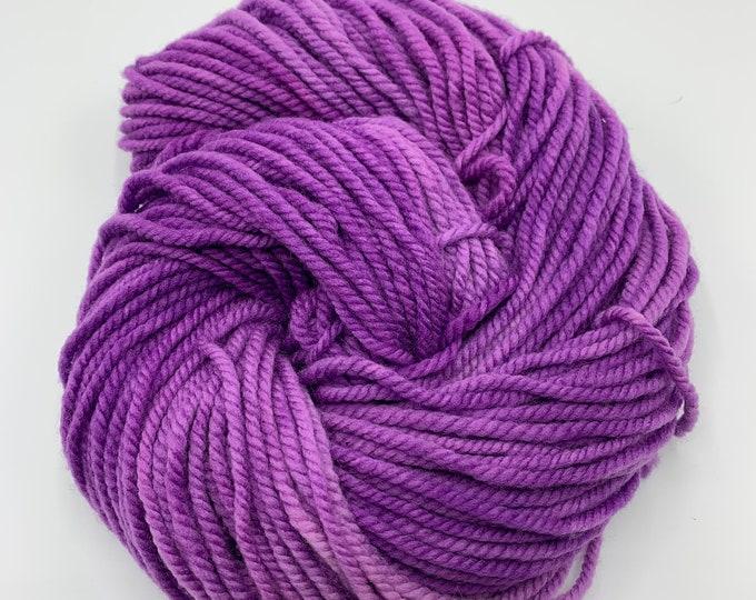 SALE merino chunky - OOAK purple semisolid
