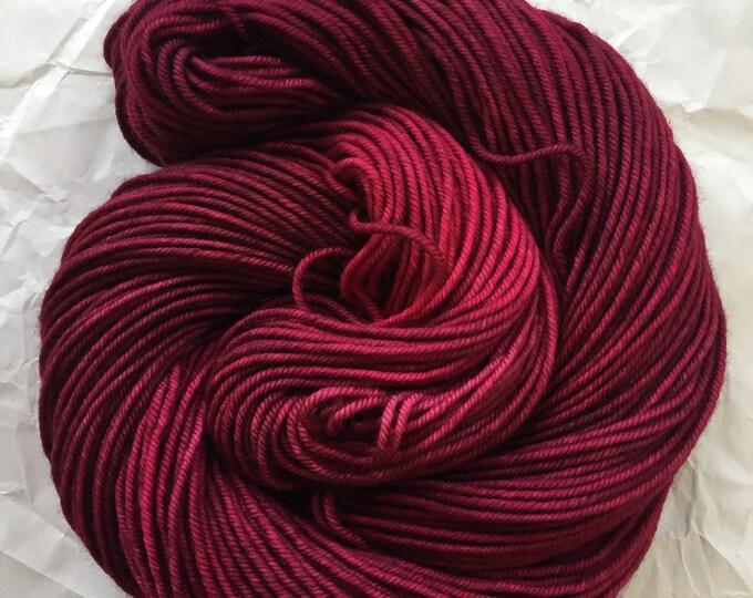 merino dk - OOAK dark red/fuchsia