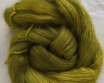 WOLKE mohair/silk laceweight - frog juice