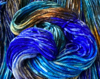 merino chunky - Rainbow of Hope color - ebb and flow