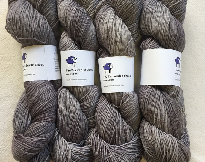watercolors sock yarn - silver lining
