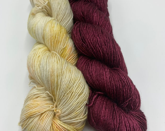 shawl set - merino single in speckles no. 37/ silky merino in any port in a storm