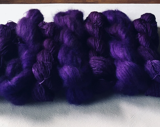 WOLKE mohair/silk laceweight - purplegasm