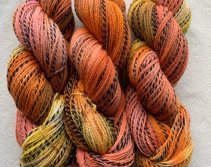 highland wool fingering - OOAK fruit jam