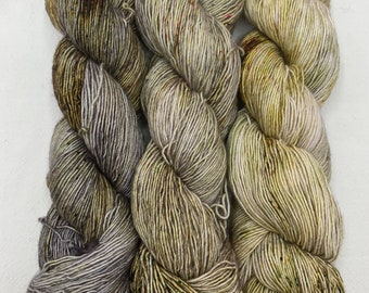 SALE - merino single, sparkly merino single - set of three skeins neutrals with a chance of speckles