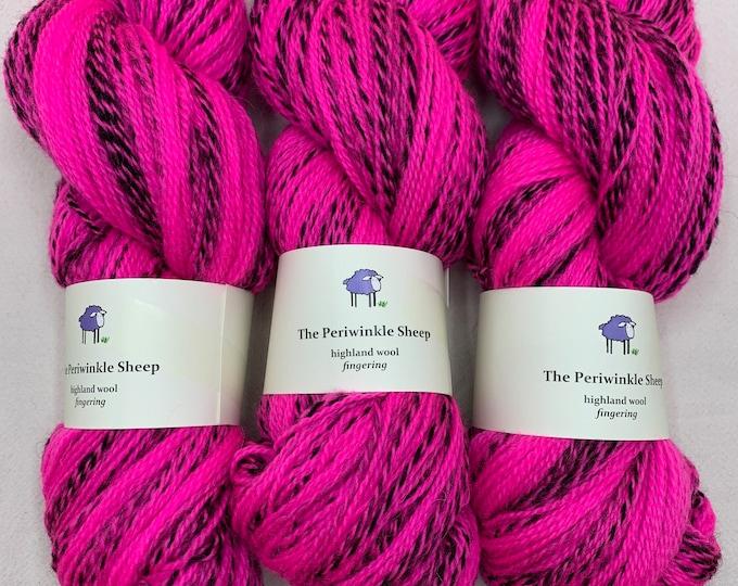highland wool fingering - hot pink