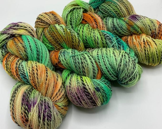 highland wool fingering - bright confetti - batch 2