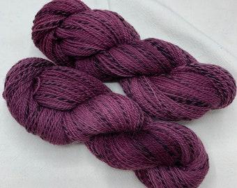 highland wool fingering - plum