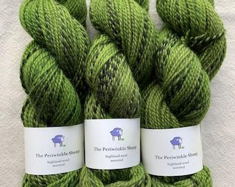 highland wool worsted - avocado
