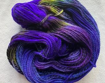 highland wool worsted - OOAK alpine flora
