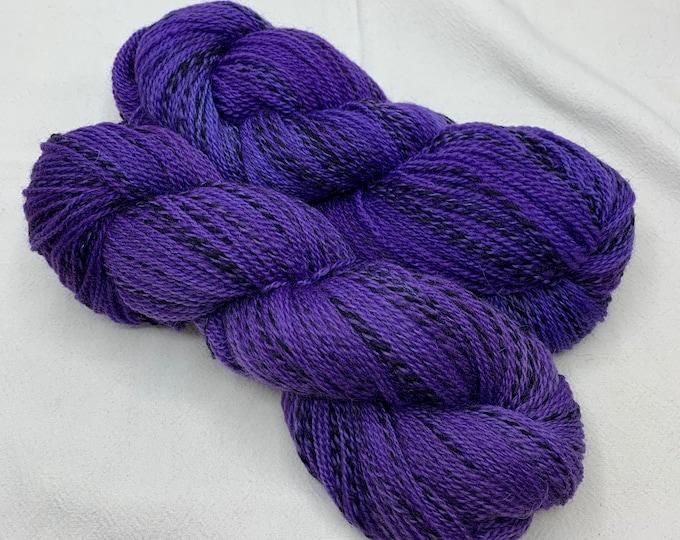 highland wool fingering - deep purple