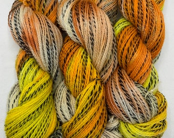 highland wool fingering - OOAK candy corn