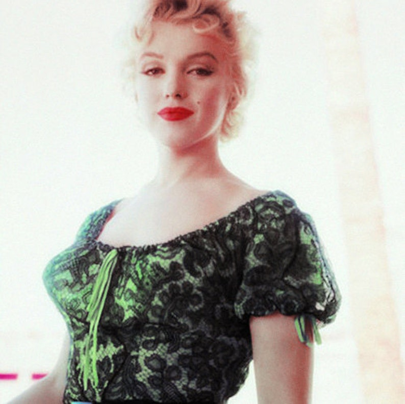 sizeup to 40 bust Custom reg Reg size 1955 Marilyn Lace Peasant Gypsy Blouse  Top from the Movie: Bus Stop..