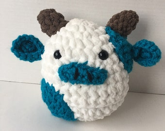 Cow Plushie - Squishmallow Inspired Teal Cow Plush