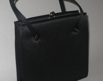 875bd67544fe Black Bag Magid Purse Handbag Evening Cloth Vintage 1960 s Made in Spain