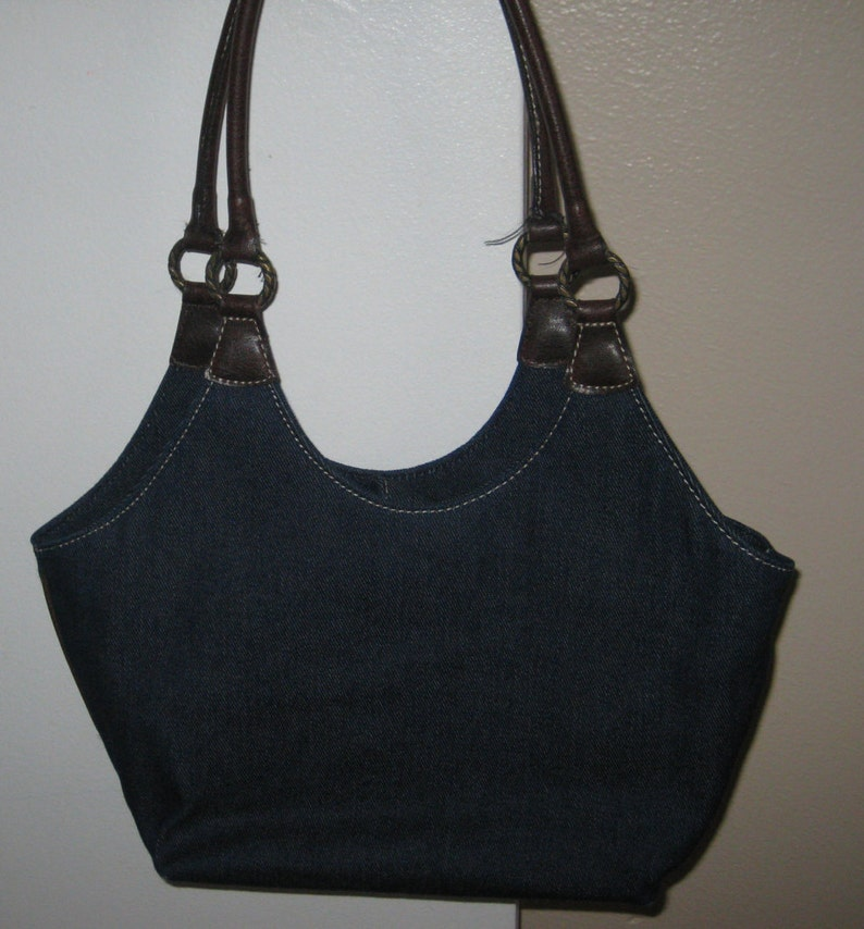 7e4869f27443 Nine West Blue Denim Shoulder Bag Handbag Purse Vintage