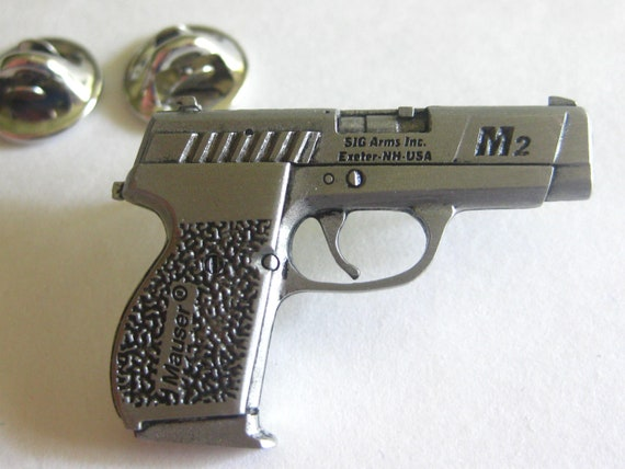 mauser m2 sig arms gun hat lapel pin old stock vintage etsy