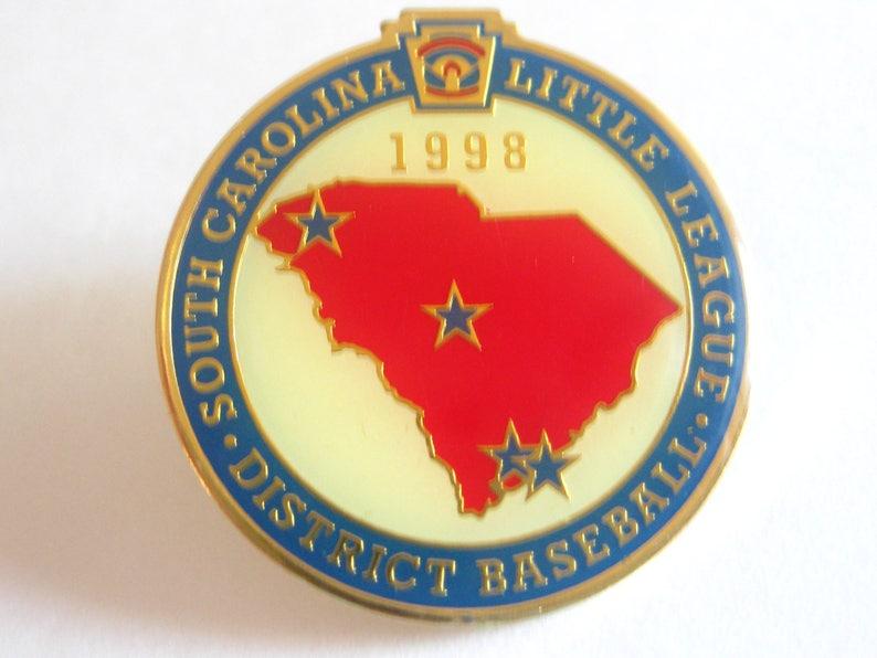 South Carolina Little League District Baseball Pin 1998 Vintage