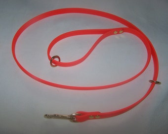 """Beta Biothane Dog Leash - 6 foot, 5/8"""" wide with 2 extra rings"""