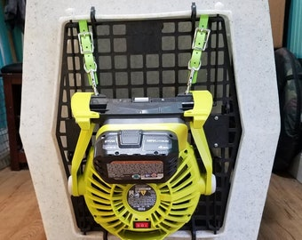 Hangers for Crates - Ryobi Fan and Buckets