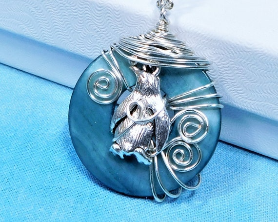 Penguin Pendant Animal Jewelry, Artisan Crafted Unique Wire Wrapped Zoo Animal Theme Sea Wildlife Necklace, Animal Lover Gift for Women
