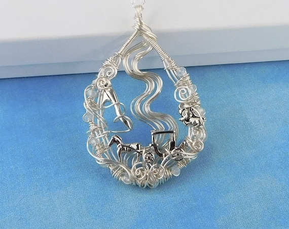 Cinderella Necklace Unique Fairytale Pendant, Artistic Woven Wire Wrapped Jewelry, One of a Kind Wearable Art Handcrafted Present Ideas