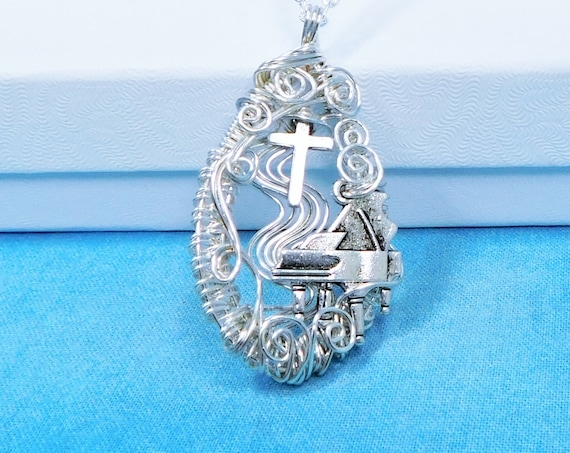 Piano Pendant Musical Theme Religious Musician Necklace, Music Jewelry for Church Pianist, Artistic Gift for Worship Team Member or Leader