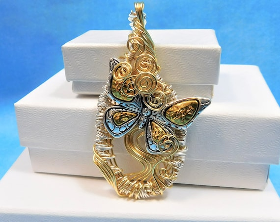 Butterfly Necklace Unique Jewelry Gift for Wife Wire Wrapped Pendant Mother in Law Gift Ideas for Mom Wife Girlfriend Sister Best Friend