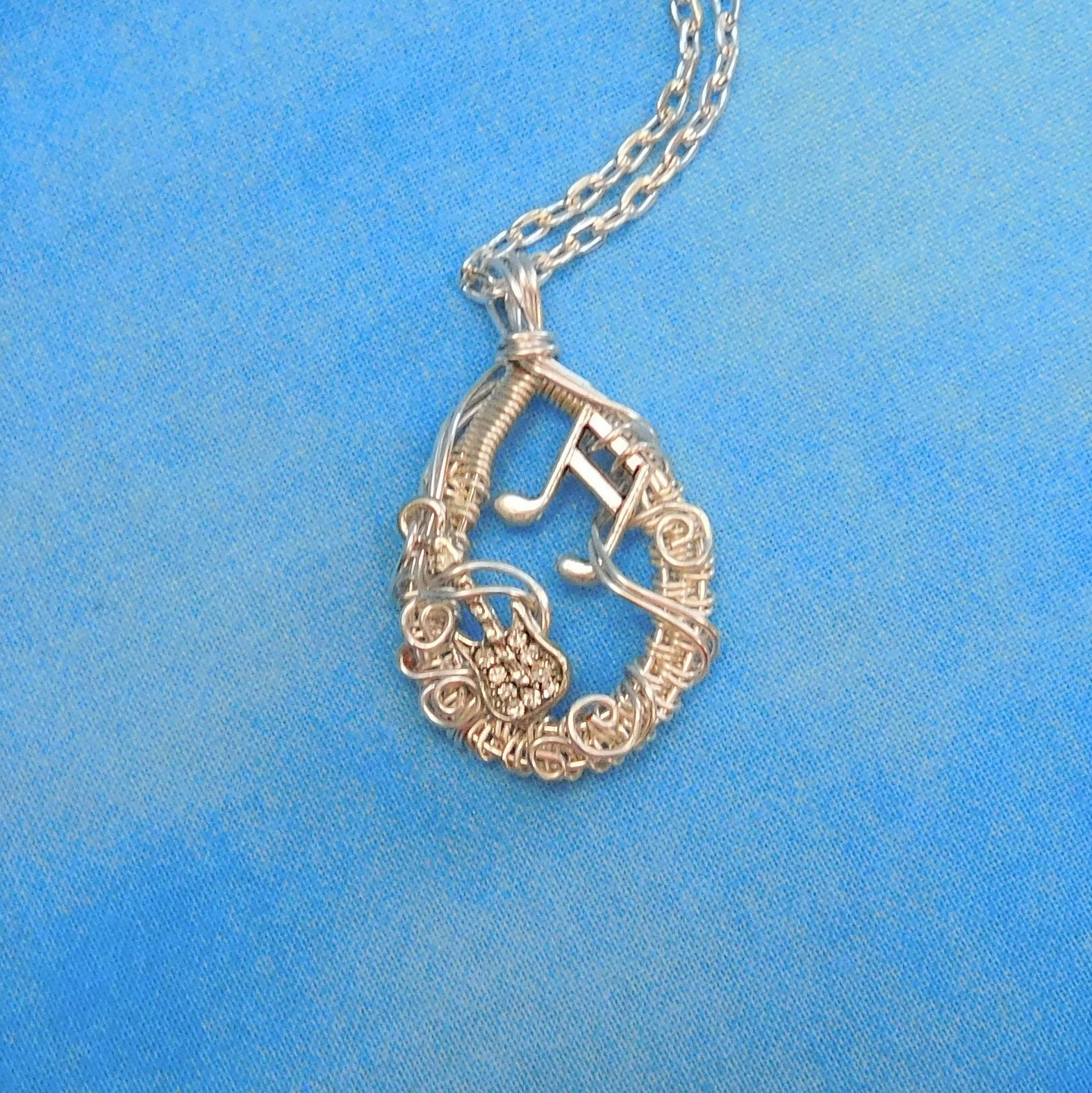 Electric Guitar Music Necklace Girlfriend Gift Ideas Artisan Crafted ...