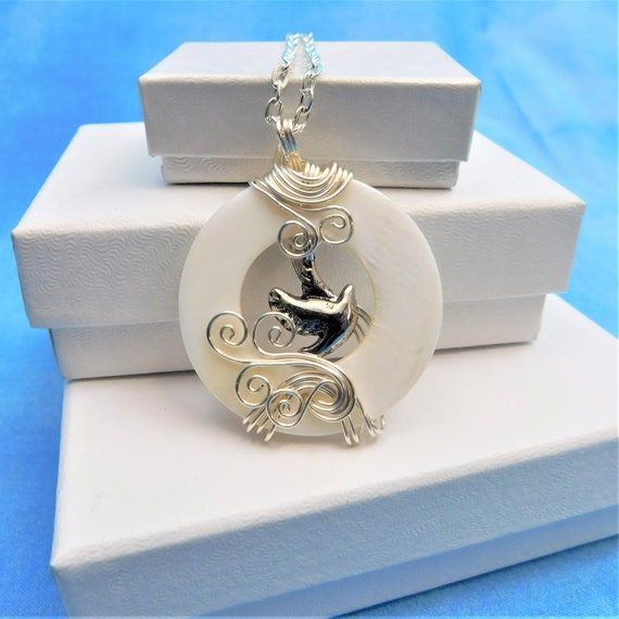 Flying Bird Necklace Unique Wire Wrapped Artisan Crafted Jewelry Artistic Handmade Pendant Graduation Birthday Anniversary Present Ideas