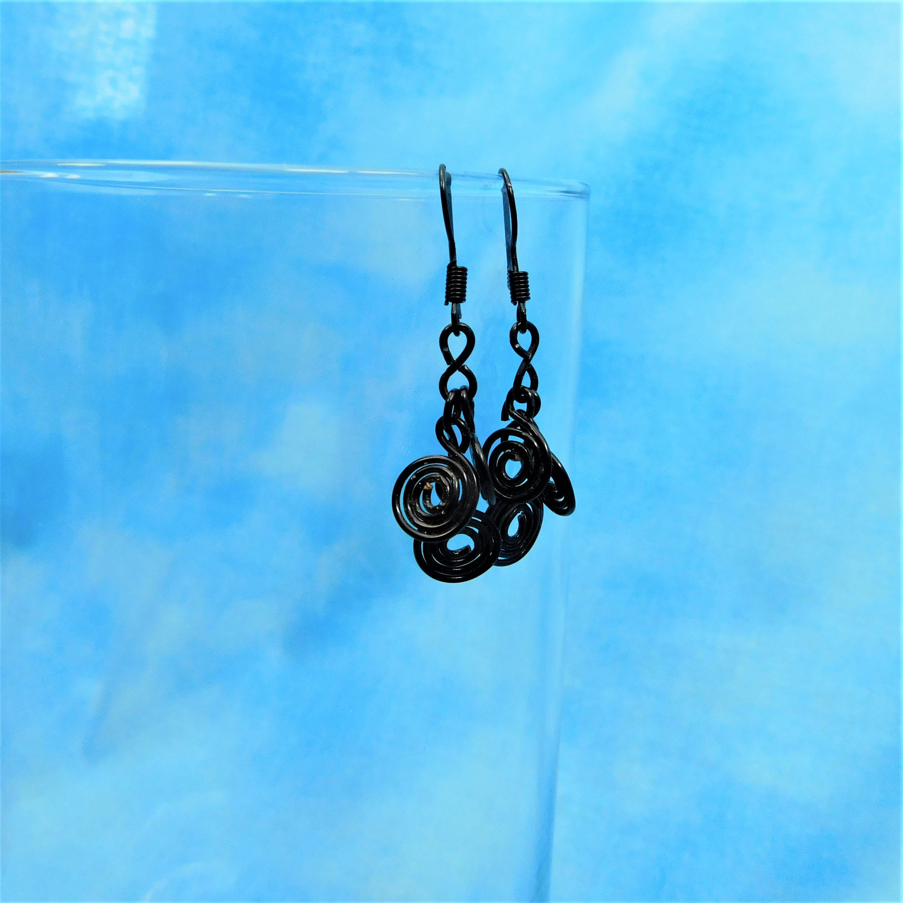 Black Wire Wrapped Earrings Gift Ideas for Mom Wife Girlfriend ...