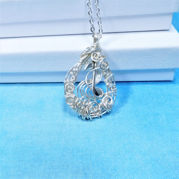 Artistic Music Note Necklace, Gift for Piano Choir Orchestra Band Vocal Teacher, Wire Wrapped Musician Pendant, Artisan Crafted Mom Present