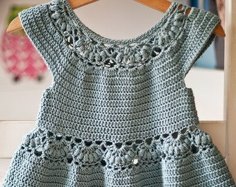 Crochet dress PATTERN - Magnolia Dress (sizes up to 8 years) (English only)