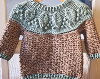 Crochet PATTERN  - Harvest Sweater (child sizes 1-2y up to 9-10years) (English only)