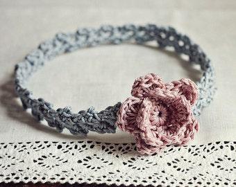Crochet PATTERN - Old Rose Headband (sizes - baby to adult) (English only)