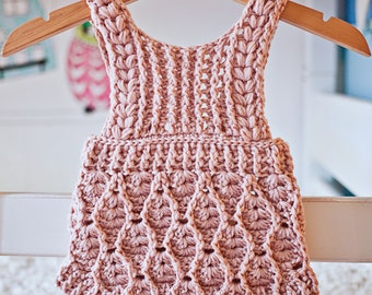 Crochet PATTERN  - Elodie Romper (sizes 0-3m, 6-9m and 12-18months) (English only)
