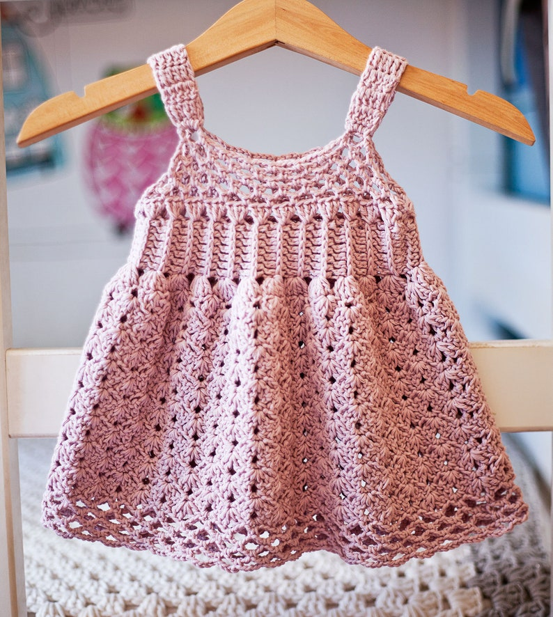 Crochet dress PATTERN  Empire Waist Dress sizes up to 8 image 0
