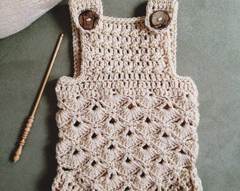 Crochet PATTERN  - Baby Romper (sizes 0-3 and 6-12 months) (English only)