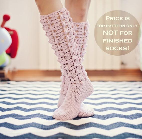 Crochet Pattern For Socks Gigi Socks Etsy