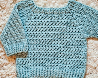 Crochet PATTERN  - River Coast Sweater (sizes baby up to 12years) (English only)