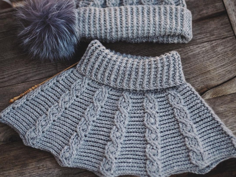 Crochet cowl PATTERN  Favorite Cable Cowl toddler to adult image 0