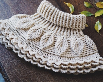 Crochet cowl PATTERN - Autumn Leaves Cowl (toddler to adult) (English only)